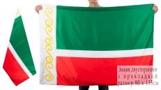 Двухсторонний флаг Чеченской Республики фото