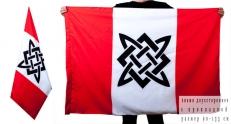 Двухсторонний флаг «Солнце славян» фото