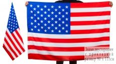 Двухсторонний флаг США фото