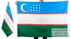 Двухсторонний флаг Узбекистана фото