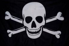 """Флаг """"Пиратский"""" с костями фото"""