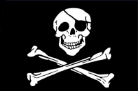 "Флаг ""Пиратский"" с повязкой"