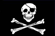 """Флаг """"Пиратский"""" с повязкой фото"""