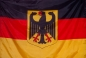 Флаг Германии с гербом фотография