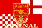 "Флаг ""FC Arsenal"" (ФК Арсенал)  фотография"