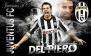 """Флаг """"Juventus FC"""" """"Del Piero"""""""