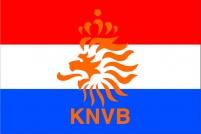 Флаг Голландии с эмблемой футбольной сборной