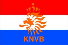 Флаг Голландии с эмблемой футбольной сборной фото