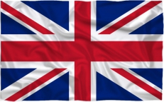 Большой флаг Великобритании фото
