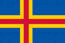 Флаг Аландских островов фото