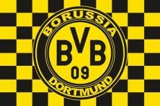 "Флаг ""FC Borussia Dortmund"" клетка фото"