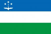 Флаг Ханты-Мансийска 2000 года