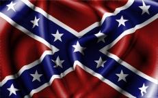 Флаг на машину с кронштейном Конфедерация фото