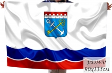 Двухсторонний флаг Ленинградской области фото