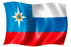 Представительский флаг МЧС России фото