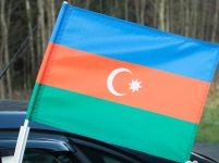 Флаг на машину с кронштейном Азербайджан