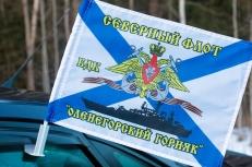 Флаг на машину с кронштейном БДК «Оленегорский Горняк» фото