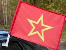 Флаг на машину с кронштейном Красной армии фото