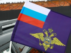 Флаг на машину с кронштейном «МВД» фото