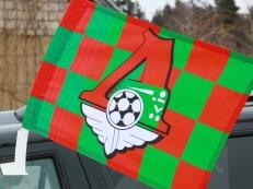 Флаг на машину с кронштейном «ПФК Локомотив» в клетку фото