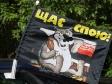 Флаг на машину с кронштейном «Щас спою» фото