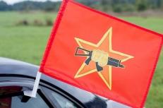 "Флаг на машину с кронштейном ""Флаг краповых беретов спецназа ВВ"" фото"