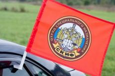 """Флаг на машину с кронштейном Спецназа ВВ """"16 ОСН Скиф"""" фото"""