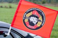 """Флаг на машину с кронштейном Спецназа ВВ 20 ОСН """"Вега"""" фото"""