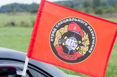 """Флаг на машину с кронштейном Спецназа ВВ """"30 ОСН Святогор"""" фото"""