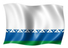 Двухсторонний флаг Ненецкого автономного округа фото