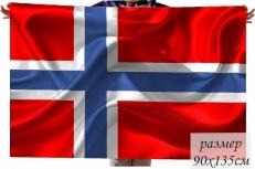 Двухсторонний флаг Норвегии фото