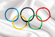 Флаг Олимпийский фото