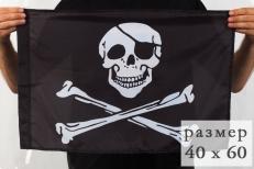 Флаг «Пиратский» с повязкой 40x60 см фото