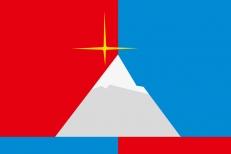 Флаг посёлка Снежногорск фото
