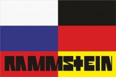 "Флаг группа ""Rammstein"" на фоне флагов России и Германии фото"