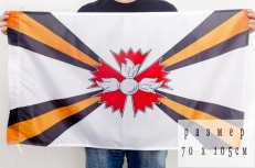 Флаг разведывательных соединений и воинских частей 70x105 см фото