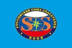 Флаг Российского Союза Спасателей фото