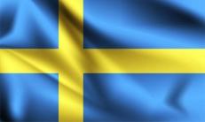Двухсторонний флаг Швеции фото