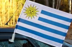 Флаг Уругвая на машину с кронштейном фото
