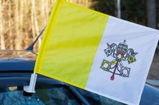Флаг Ватикана на машину с кронштейном фото