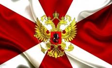 Флаг Внутренних войск (на сетке) фото