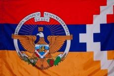 Флаг Нагорно – Карабахской республики с гербом фото