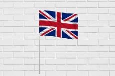 Флажок Великобритании на палочке фото