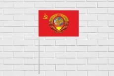 Флажок на палочке «Флаг СССР с гербом» фото