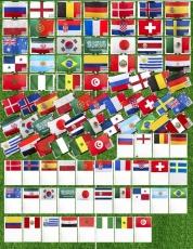 Флаги на Чемпионат Мира по футболу в РФ 2018 (комплект флагов 90х135см и 15х22см) фото