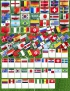 Флаги на Чемпионат Мира по футболу в РФ 2018 (комплект флагов 90х135см и 15х22см)