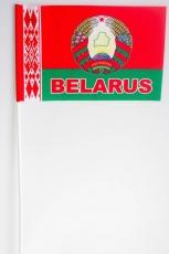 Флажок Белоруссии с гербом на палочке фото
