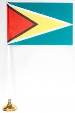 Флажок Гайаны настольный с подставкой фото