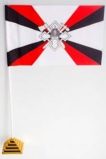 Флажок настольный «Флаг воинских частей и организаций расквартирования и обустройства войск» фото