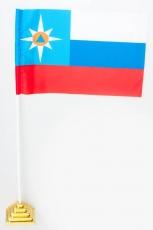 Флажок настольный МЧС «Триколор» фото